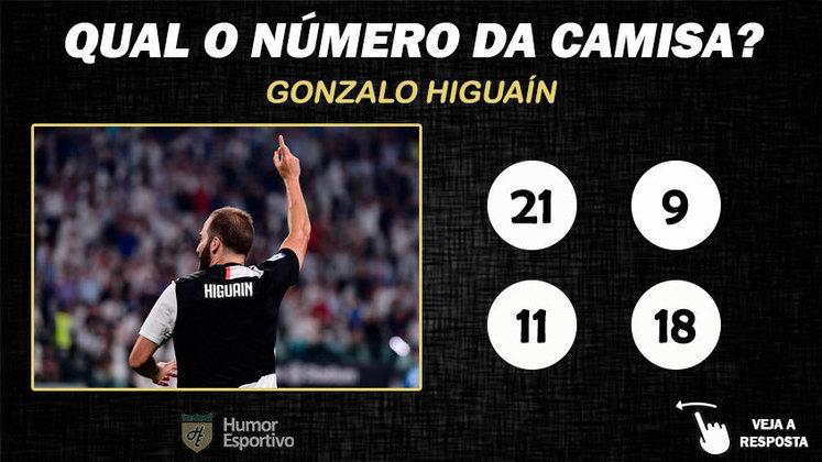 Qual o número da camisa de Higuaín na Juventus?