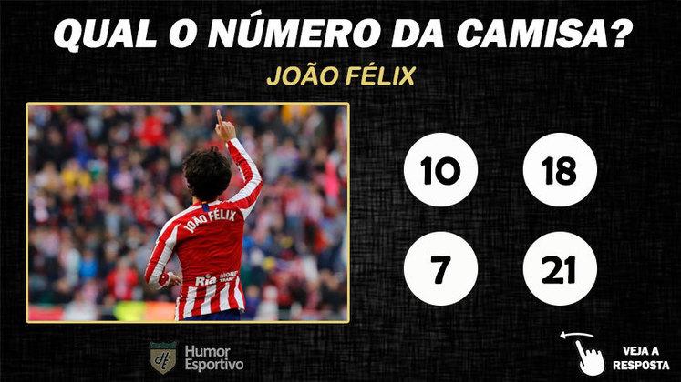 Qual o número da camisa de João Félix no Atlético de Madrid?