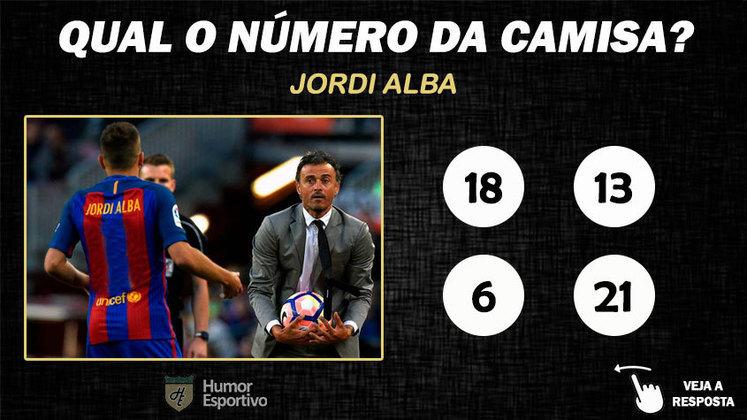 Qual o número da camisa de Jordi Alba no Barcelona?