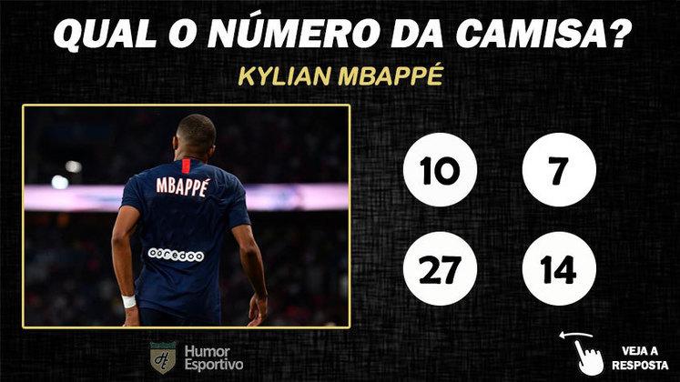 Qual o número da camisa de Mbappé no PSG?