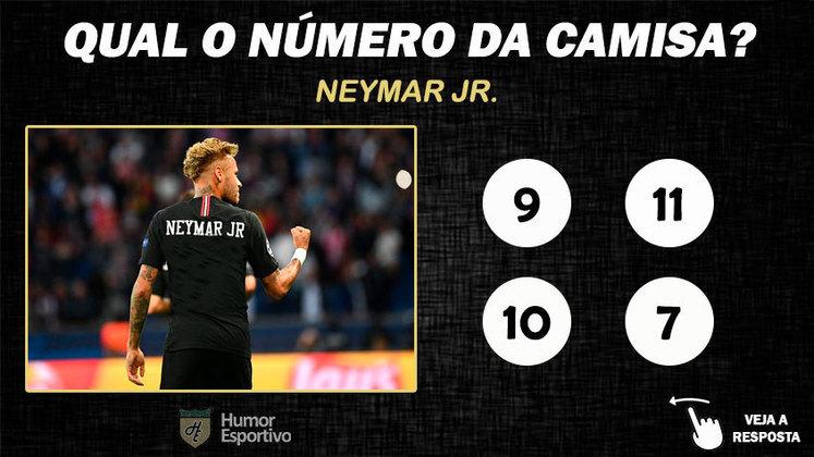 Qual o número da camisa de Neymar no PSG?