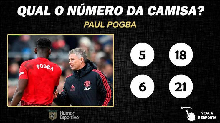 Qual o número da camisa de Pogba no Manchester United?
