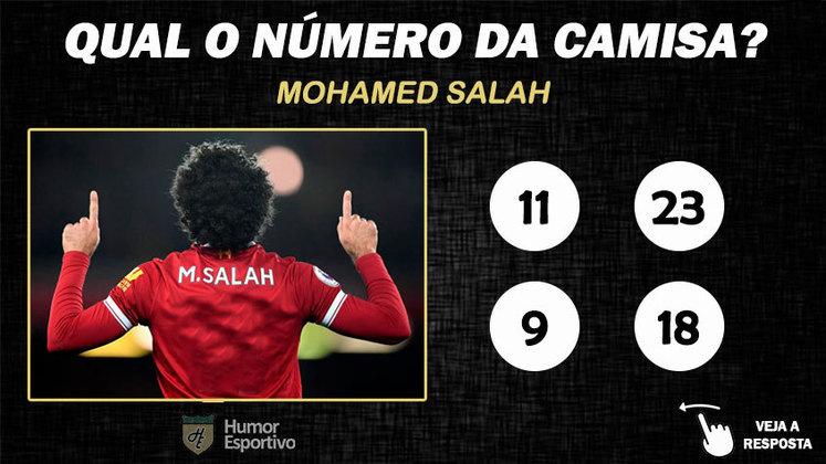 Qual o número da camisa de Salah no Liverpool?