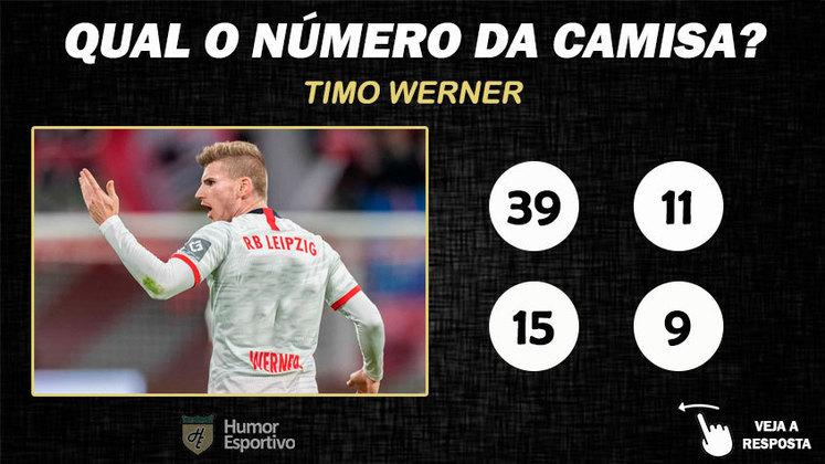 Qual o número da camisa de Timo Werner no RB Leipzig?