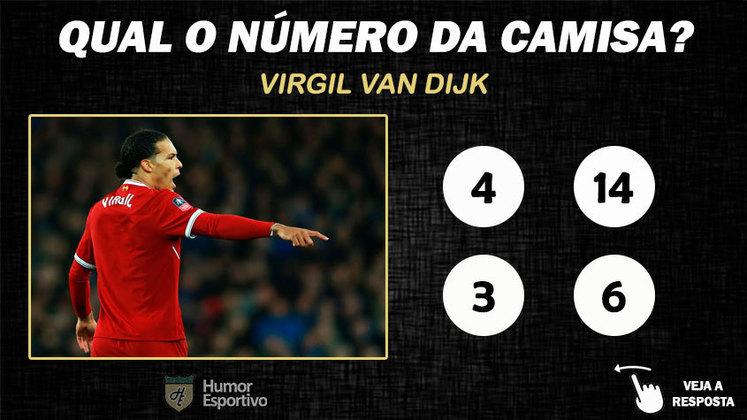 Qual o número da camisa de Van Dijk no Liverpool?