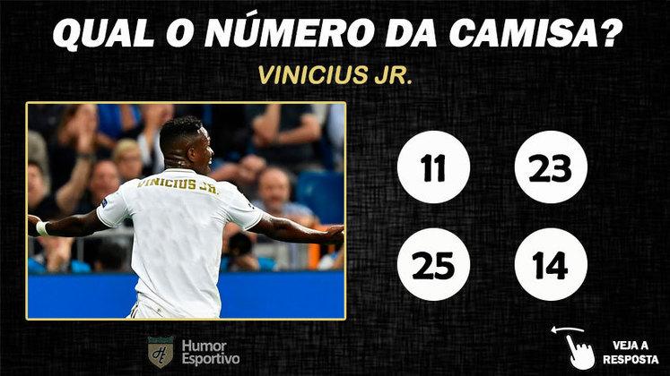 Qual o número da camisa de Vinicius Junior no Real Madrid?