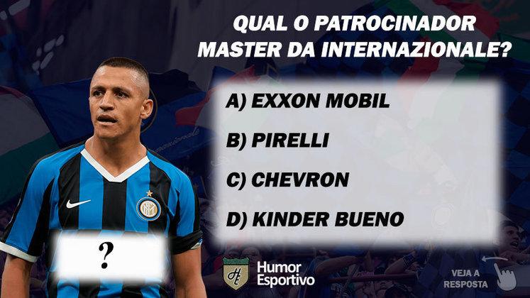 Qual o patrocinador master da Internazionale de Milão?