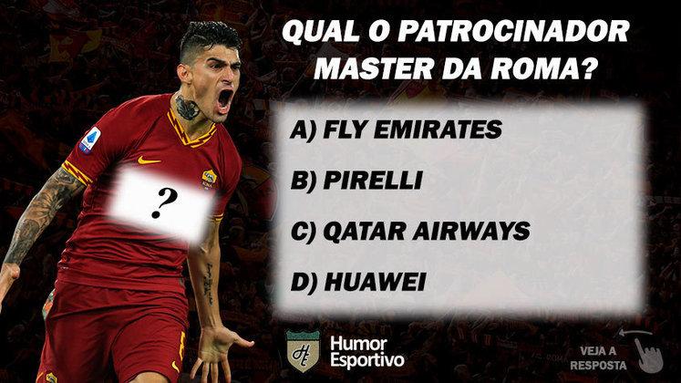 Qual o patrocinador master da Roma?