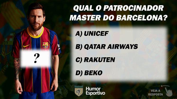 Qual o patrocinador master do Barcelona?