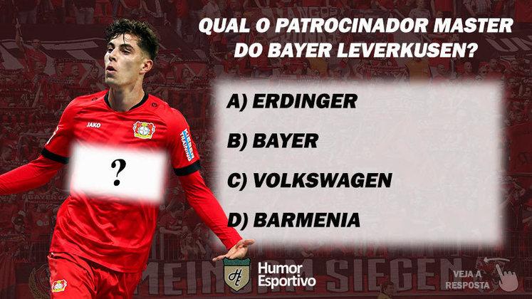 Qual o patrocinador master do Bayer Leverkusen?