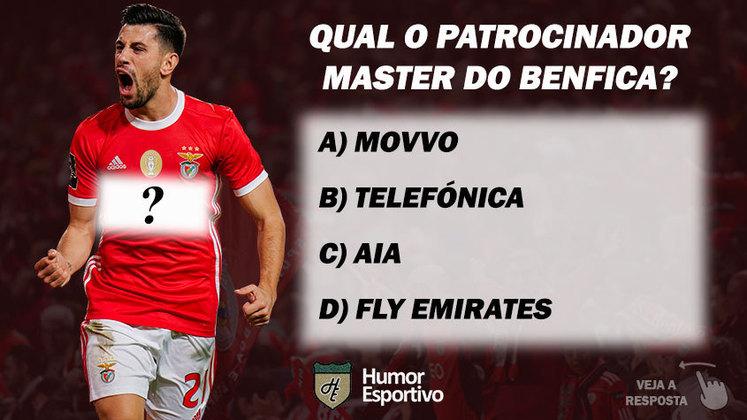 Qual o patrocinador master do Benfica?