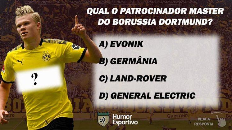 Qual o patrocinador master do Borussia Dortmund?