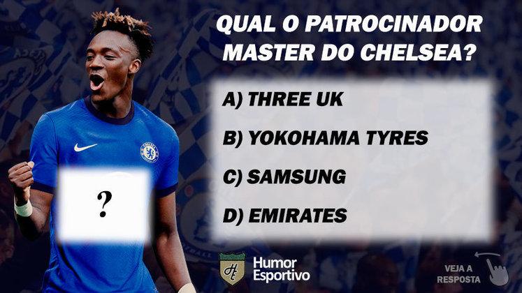 Qual o patrocinador master do Chelsea?