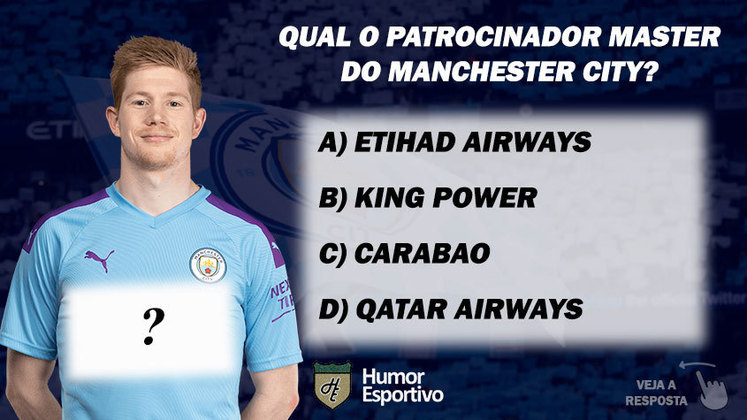 Qual o patrocinador master do Manchester City?