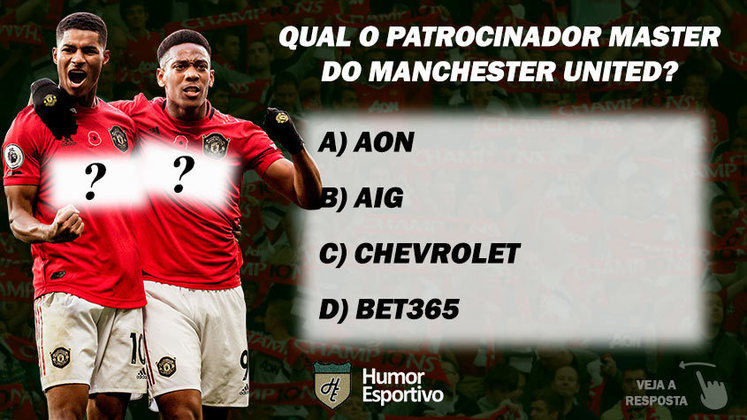 Qual o patrocinador master do Manchester United?