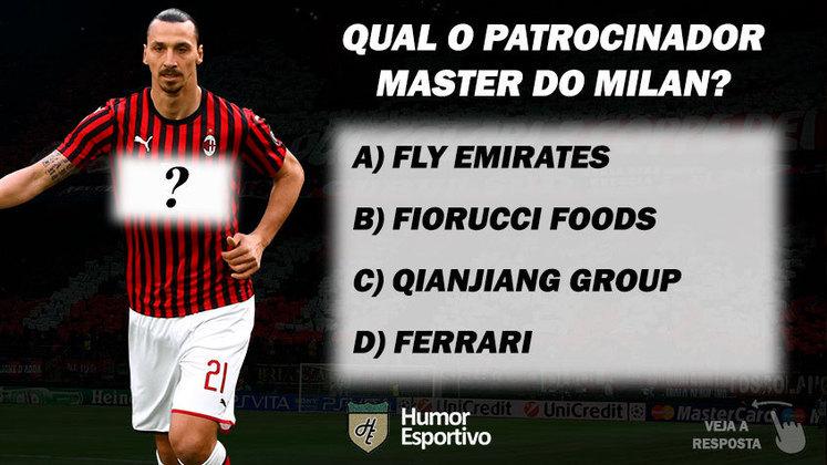 Qual o patrocinador master do Milan?