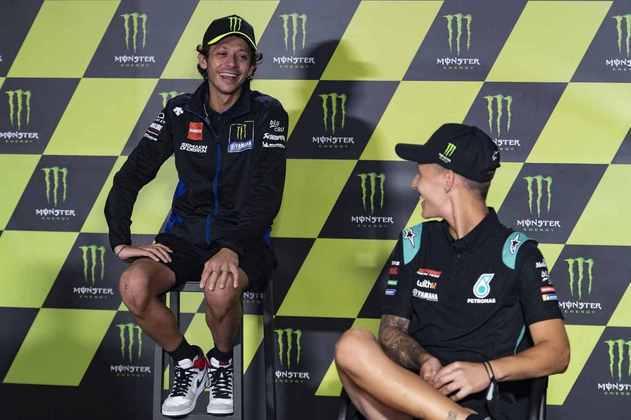 Quartararo e seu mentor Rossi