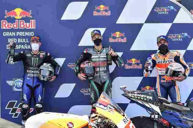 Quartararo, Viñales e Márquez (Foto: SRT)