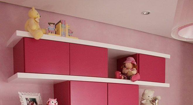 Quarto de menina rosa pink