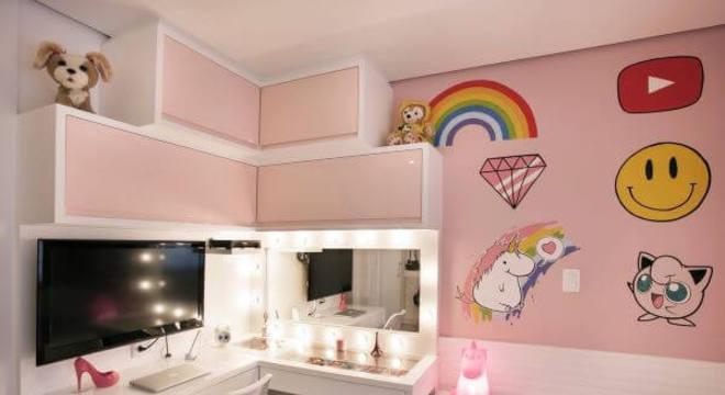 quarto rosa para meninas