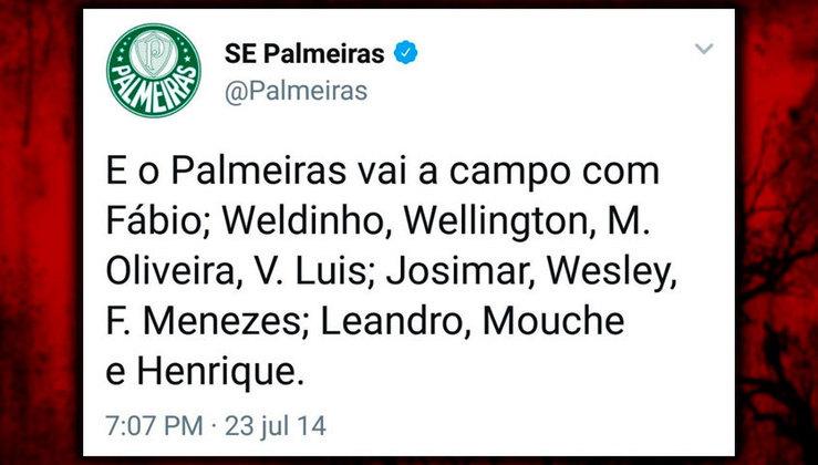 Que tal esse time do Palmeiras comandado por Ricardo Gareca em 2014?