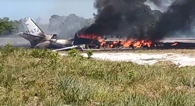 Avião caiu no interior da Bahia nesta quinta-feira (14)