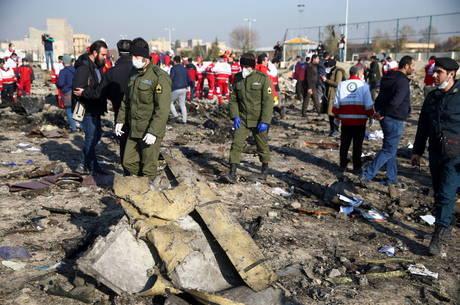Avião ucraniano foi atingido por um míssil no Irã