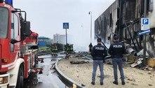Avião se choca contra edifício e deixa oito mortos na Itália