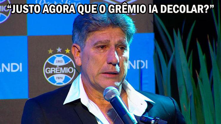 Queda de Renato Gaúcho após eliminação na Libertadores vira piada na web