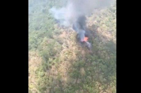 Helicóptero caiu no meio da floresta em Sierra Gorda
