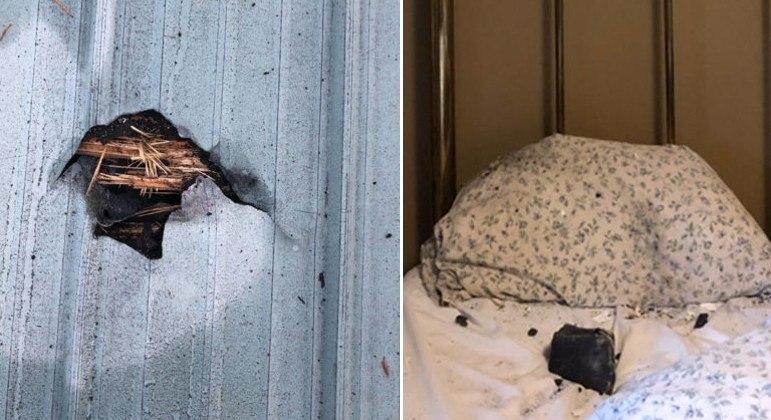 Canadense despertou após meteorito cair sobre o travesseiro dela