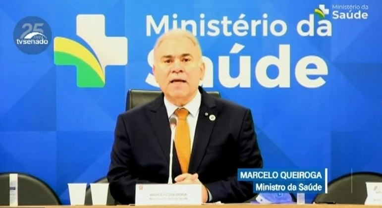 Ministro Marcelo Queiroga em audiência pública no Senado Federal