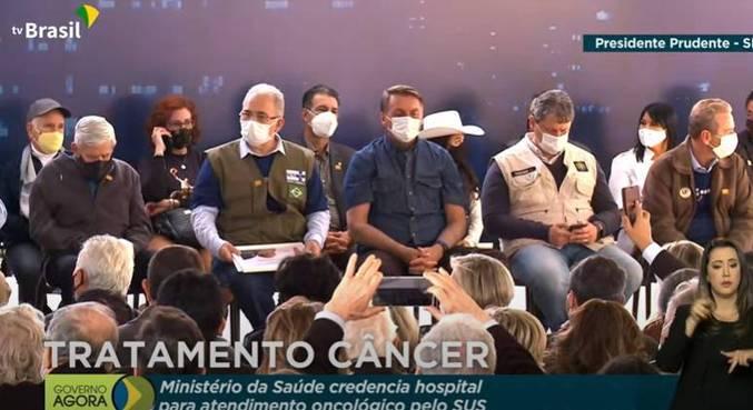 Marcelo Queiroga e Jair Bolsonaro participaram de evento em Presidente Prudente