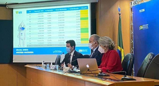 Marcelo Queiroga explicou a redistribuição das doses da vacina entre os estados