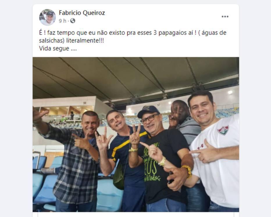 Queiroz posta foto ao lado do presidente