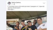 Queiroz posta foto com Bolsonaro e aliados e reclama de abandono