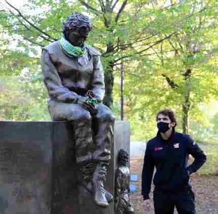 Quem também marcou presença no memorial foi Pietro Fittipaldi