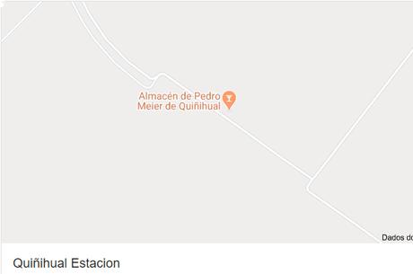 Google maps mostra o isolamento de Quiñihual