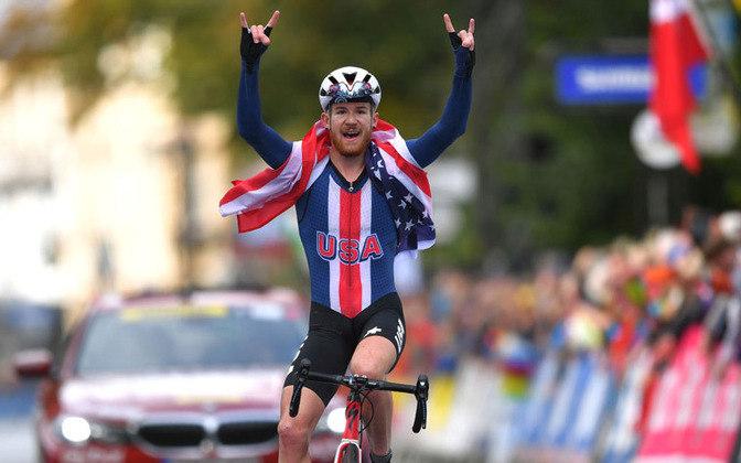 Quinn Simmons: o ciclista americano declarou voto para Trump.