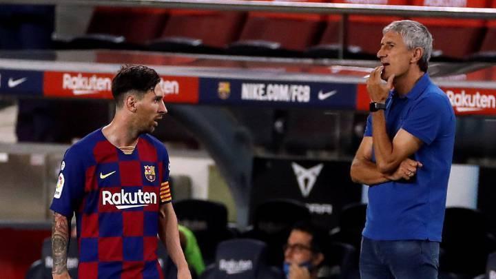 Quique Setién e Messi. Vexame na Champions. 8 a 2 para o Bayern