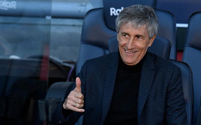 Quique Setién – espanhol – 62 anos – Barcelona foi o último clube que treinou, saiu em agosto de 2020 – principais feitos como treinador: foi vice-campeão espanhol (Barcelona).