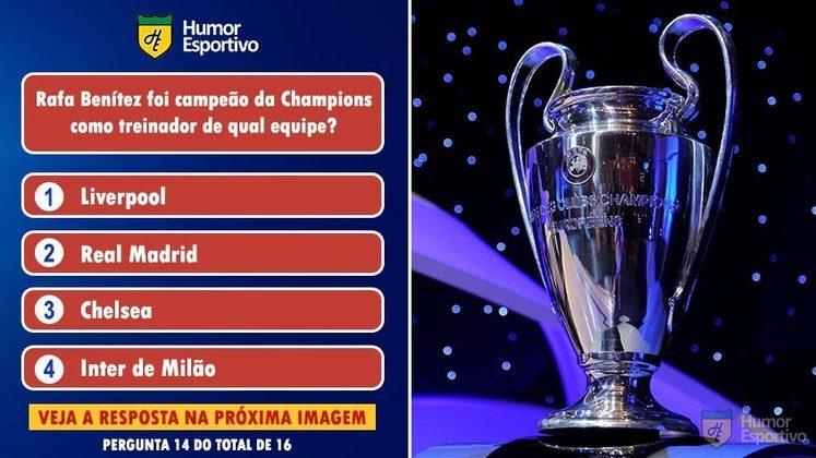 Quiz da Champions: acerte a resposta correta!