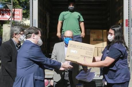 Respiradores chegaram para ajudar no combate da pandemia