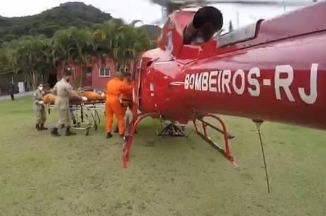 Turista ferido foi resgatado na Pedra da Gávea