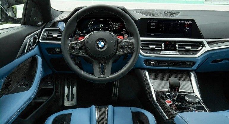 M3 incorpora head up display, carregamento wireless para celulares, BMW Drive Recorder, entre outros itens