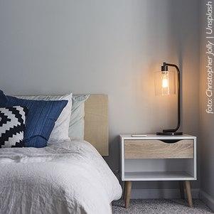 Independentemente do tamanho do quarto, opte por cores mais claras