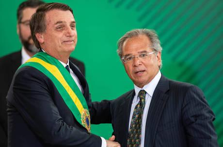 Bolsonaro e o ministro da Economia, Paulo Guedes