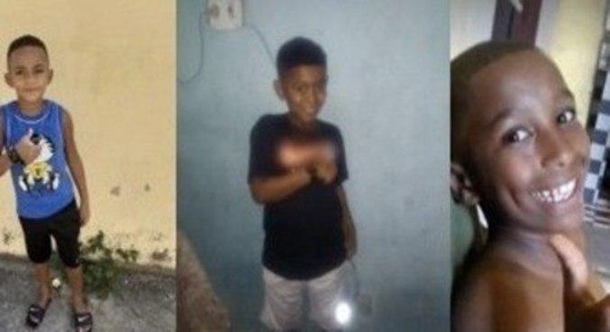 Lucas, Alexandre e Fernando estão desaparecidos desde 27 de dezembro de 2020