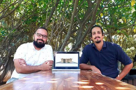 Diego e Caio criaram maquete 3D do Museu Nacional