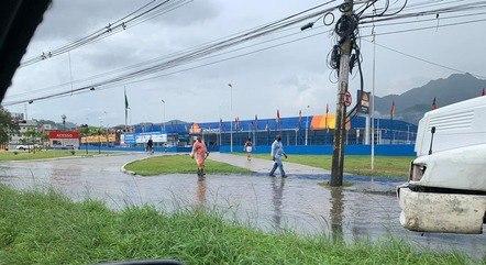 Chuva provoca estragos na cidade do Rio